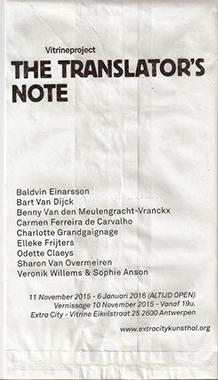 The Translator's Note